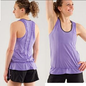 •Lululemon• Purple Ruffled Running Tank